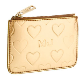MARC JACOBS - Mirror Heart  Pouch Gold