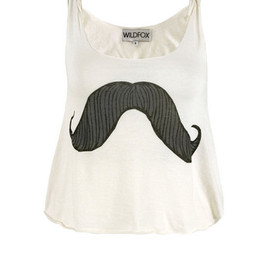 WILDFOX - WTJ704933 Mustachio Dirty White Vest