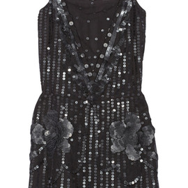 ANNA SUI - Sequin-embellished tulle dress