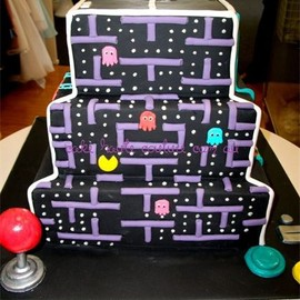 Cake Haute Couture - Four Video Games on One Cake