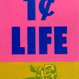 1 Cent Life - with 68 Original Pop Art & Graphics, Cover Art by  Roy Lichtenstein, 1963
