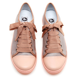 Cap-Toe Textured-Leather Sneakers