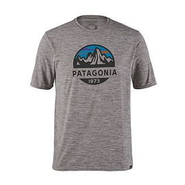 Patagonia - メンズ・キャプリーン・クール・デイリー・グラフィック・シャツ, Fitz Roy Scope: Feather Grey (FZSE)