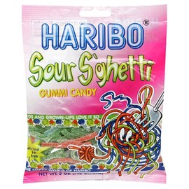Haribo - Haribo Gummi Candy, Sour S'ghetti, 5-Ounce Bags (Pack of 12)