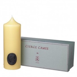 Cire Trudon - PILLAR CANDLE WITH CAMEO white
