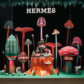 zim and zou hermes - woodland wonderland for Hermès windows in dubai