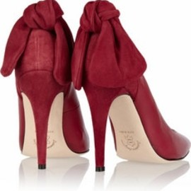 Carven - Bow Leather & Suede Pumps