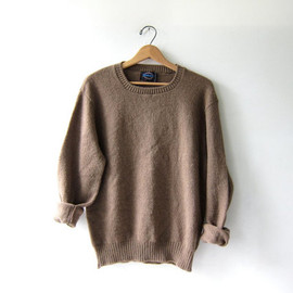 vintage brown sweater. modern pullover. Janzen sweater.