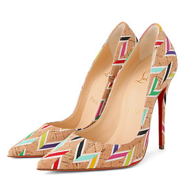 Christian Louboutin - Cork Chevron Pump