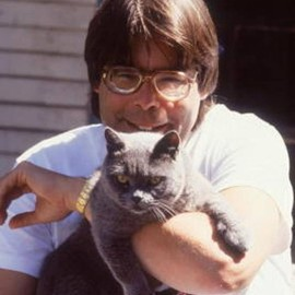 cat - Stephen King with cat