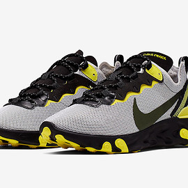 NIKE - React Element 55 - Pure Platinum/Dynamic Yellow