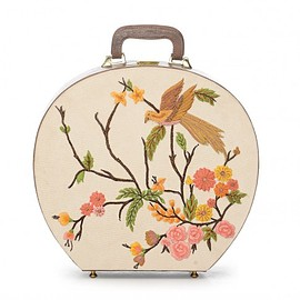SAMANT CHAUHAN - Thread Embroidered Beige Trunk Bag