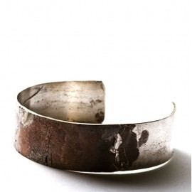 DETAJ - Copper on silver bangle