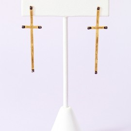 HOUSE OF HARLOW 1960 - Long Cross Earrings