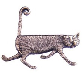 goreystore - Stripey Cat Pin Sterling Silver