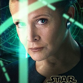 Star Wars: The Force Awakens character posters - Leia