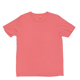 Hanes - Crew Neck T Shirt with Pocket-Rose