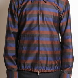 DRIES VAN NOTEN - 'Clive' Shirt Jacket in Aubergine Stripe