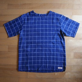 "CYDERHOUSE - CHECK TEE ""NAVY"""