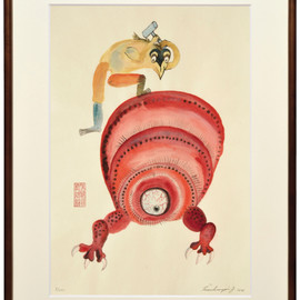 "Jan Svankmajer - Woodcut (Prints Kyoto)""No.3"""