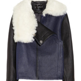 PROENZA SCHOULER - Proenza Schouler Shearling-collared quilted leather jacket