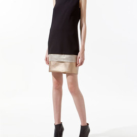ZARA - COMBINED PANELLED DRESS