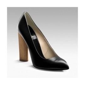 Yves Saint Laurent - wood heeled pumps