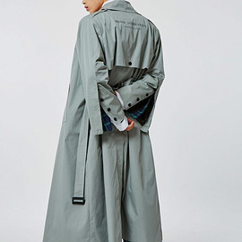 MORE THAN DOPE - Button trench (khaki gray)