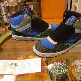 "airwalk - 「<deadstock>'91 airwalk VELOCITY""SONIC"" black/blue/green""made in KOREA"" W/BOX size:US10/h 17800yen」完売"