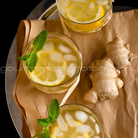 Gourmande in the Kitchen - Honey Ginger Lemonade