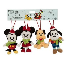 Disney - Mickey Mouse and Friends Plush Ornament Set