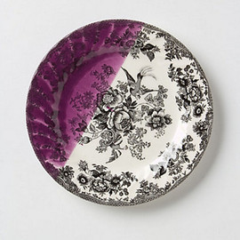 Anthropologie - Dipped Toile Dessert Plate
