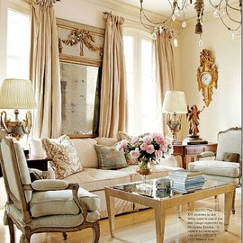 Perfect colors in this room, soft yet still some color, and the trim on the sofa...