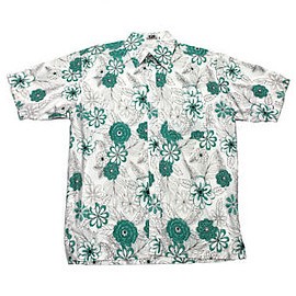 VINTAGE - Vintage 1990s 90s White/Teal Hawaiian Hawaii Luau Shirt Mens Clothing Size Small