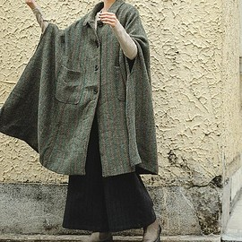 Oversize wool overcoat - Women's winter cloak coat, Bat sleeve overcoat, Oversize wool overcoat, Maternity Clothing