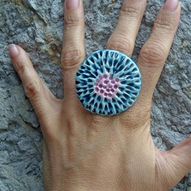 Luulla - Blue and lavender ring Spring collection