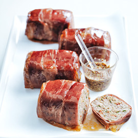 Donna Hay - chorizo meatloaves with maple glaze