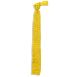 UNIVERSAL PRODUCTS - SILK KNIT TIE YELLOW