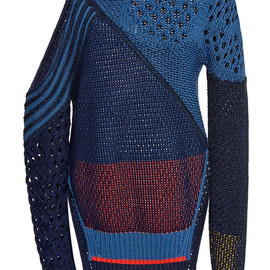 PRABAL GURUNG - SS2015 Chunky Knit Sweater With Cut Out Shoulder