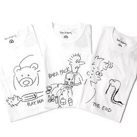 BAMAOO SHOOTS×Ken Kagami - PLAY DEAD/BAKA PACK/THE END TEE