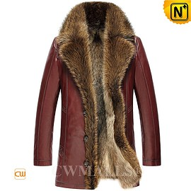 CWMALLS - CWMALLS® Mens Fur Lined Leather Jackets CW836059