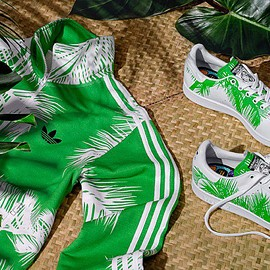 PHARRELL WILLIAMS, BBC, ADIDAS ORIGINALS - STAN SMITH PALM TREE PACK