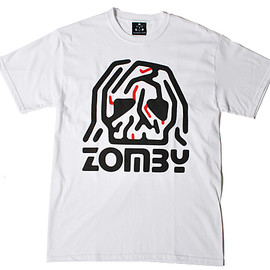 The Trilogy Tapes - TTT White Zomby by Fergadelic T-Shirt