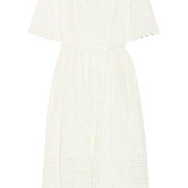 Temperley London - Desdemona paneled guipure lace wrap dress
