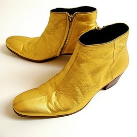 DIOR HOMME - Gold Boots (2005AW)