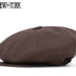 NEW YORK HAT - LINEN BIG APPLE BROWN