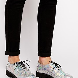 asos - Image 1 ofASOS MISSILE LAUNCH Chunky Lace Up Brogue