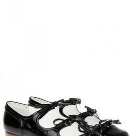 Courreges - Black. Classic Courreges mary janes flats