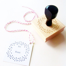 ChristineMarieB - Confetti Dots To / From Gift Tag Stamp 2 x 2