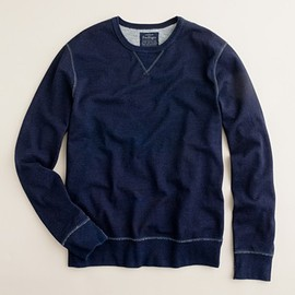 J.CREW - INDIGO FLEECE CREWNECK SWEATSHIRT
